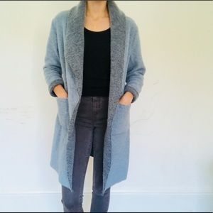 Long light blue thin coat